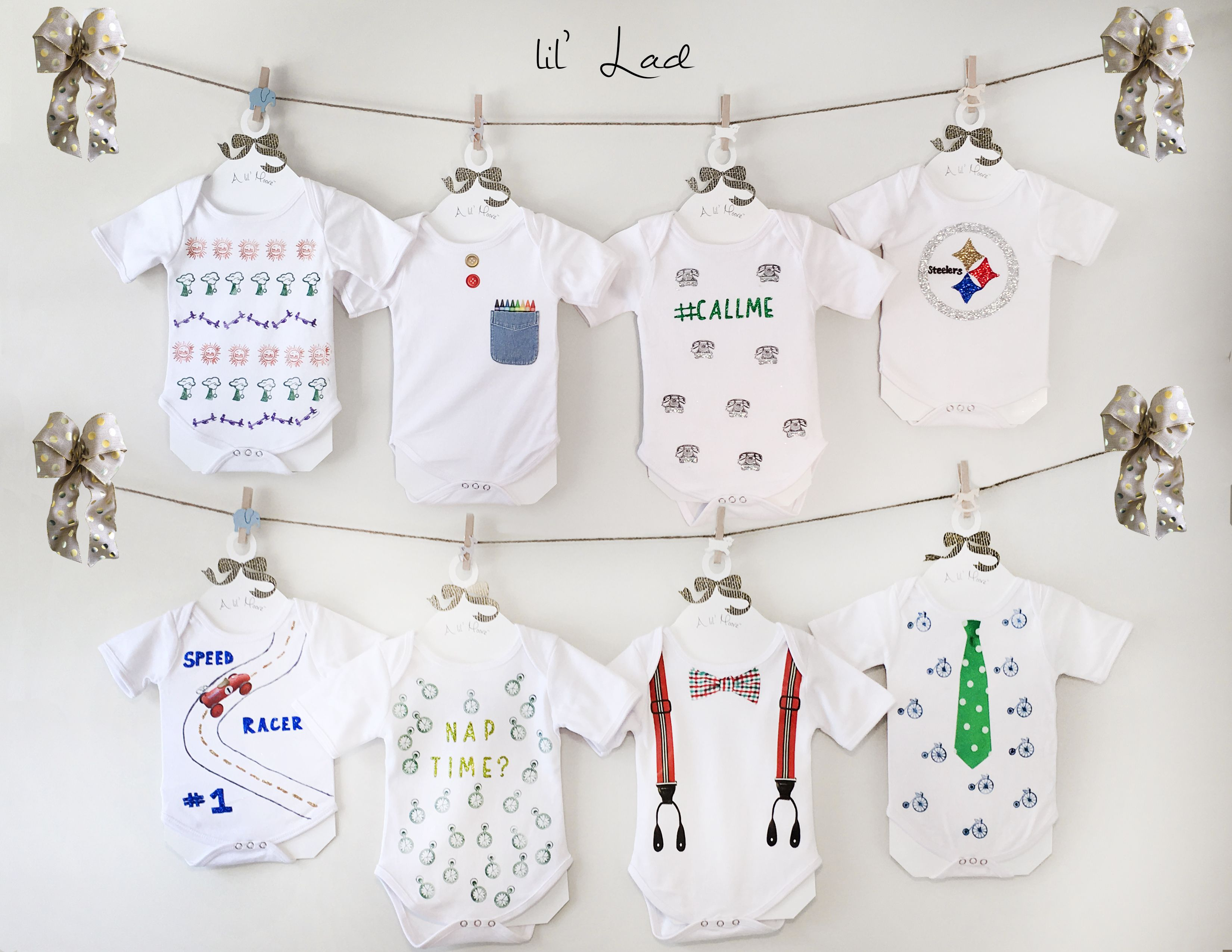 The Ultimate Baby Shower Gift A Onesie Decorating Kit For Boy Girl Or Gender Neutr Baby Shower Onesie Decorating Baby Boy Shower Party Baby Shower Party Kit