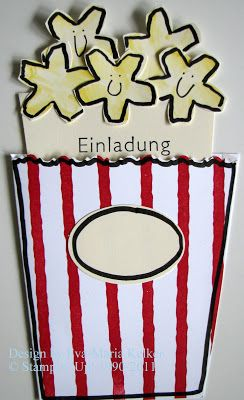 Die Stempelküche   Stempeln, Scrappen, Träumen: Gaaanz Großes Kino   Süße  Einladungen Zur Kino Party