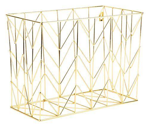 U Brands Hanging File Desk Organizer Wire Metal Gold Gold Office Supplies Gold Desk Accessories Hanging File Organizer