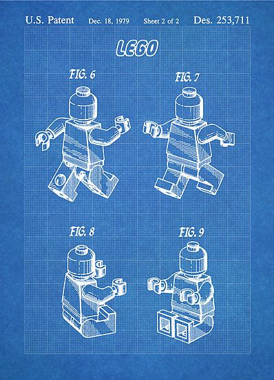 Lego minifigure us patent art mini figure blueprint poster print lego minifigure us patent art mini figure blueprint poster print malvernweather Images