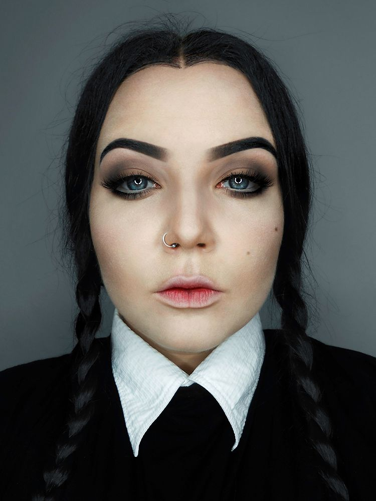makeup wednesday addams pesquisa google costumes. Black Bedroom Furniture Sets. Home Design Ideas
