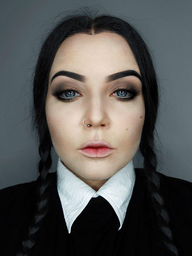 makeup wednesday addams - Pesquisa Google | Coisas para ...