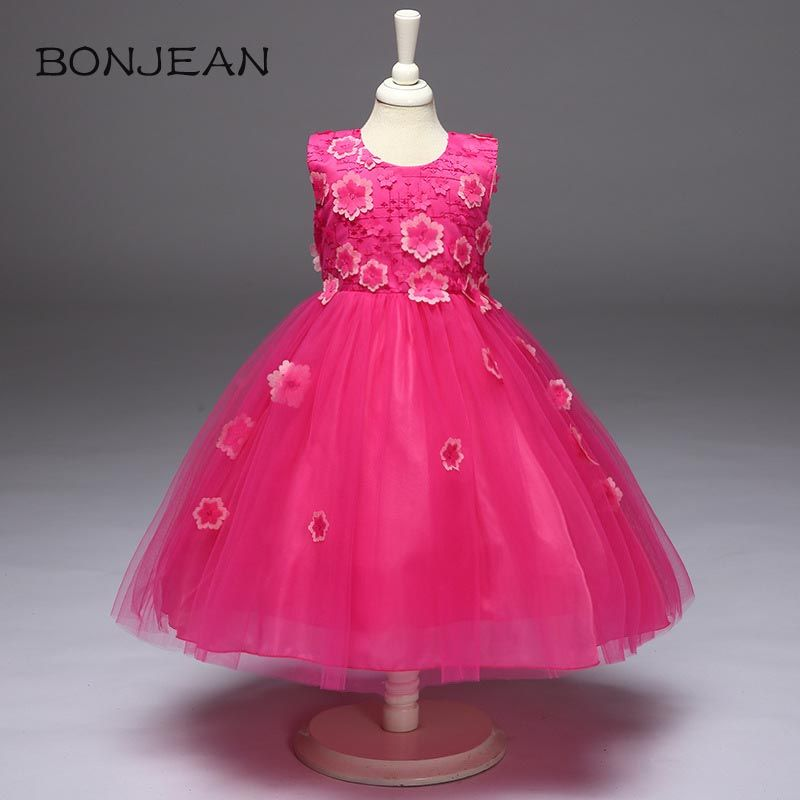 Summer Princess Girl Dresses Formal Wear 2 3 4 5 6 7 Years