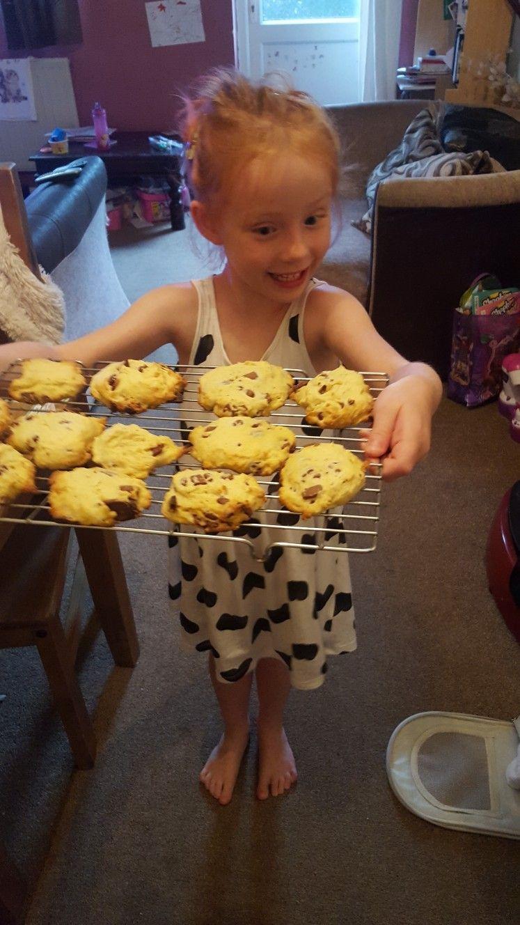 Chocolate chunk cookie cakes