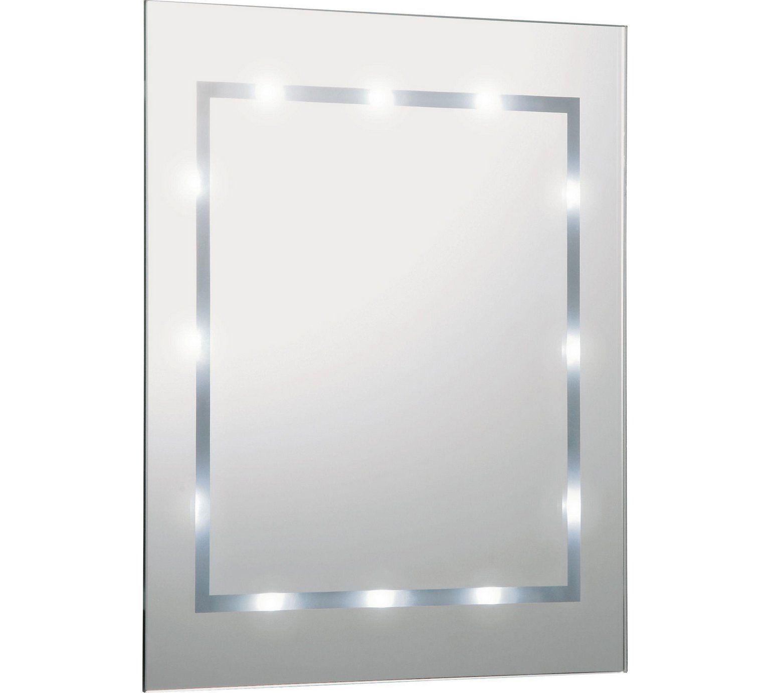 Buy HOME Rectangular Illuminated Bathroom Mirror - White Gloss at ...