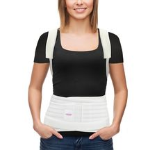 The GABRIALLA Female Posture Corrector for Thoracic Lumbo-Sacral Orthosis is recommended by doctors.  Treats/prevents scoliosis, provides body shaping effect.