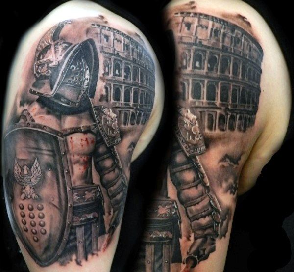 866305bc4 40 Valiant Gladiator Tattoo Designs | Tattoos | Gladiator tattoo ...