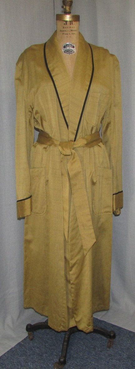 Vintage 1940s Mens Robe Raw Silk Lord & by ladysslippervintage ...