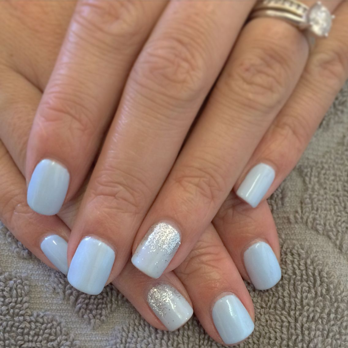 Baby Blue Shellac Blue Gel Nails Blue Shellac Nails Baby Blue Nails