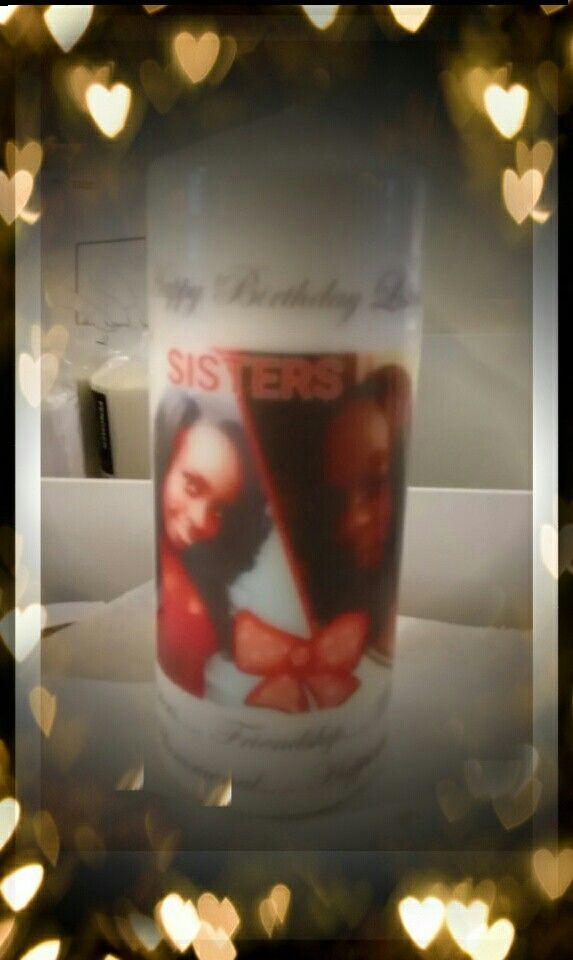 Custom printed candle..