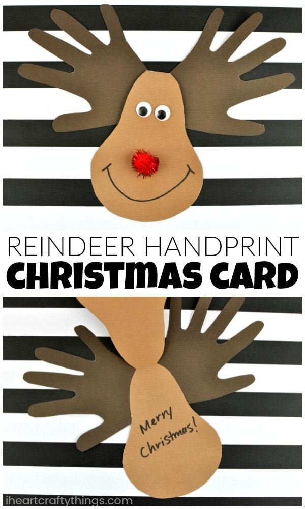 Reindeer Handprint Christmas Card
