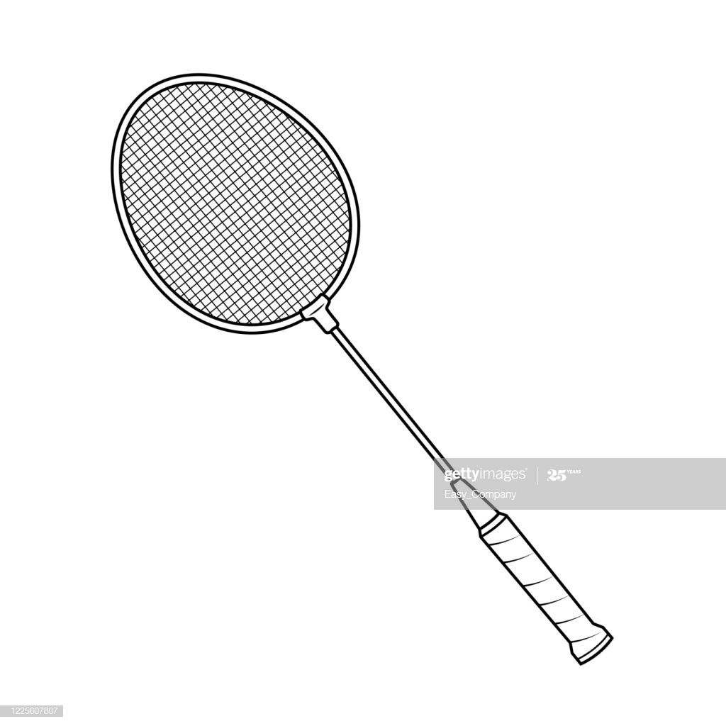 Badminton Racket Drawing In A White Background For Assembly Or In 2020 Badminton Racket Badminton Rackets