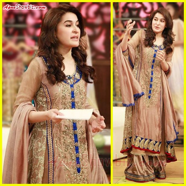 Shaista Lodhi in a beautiful Traditional Party Wear Dress ...