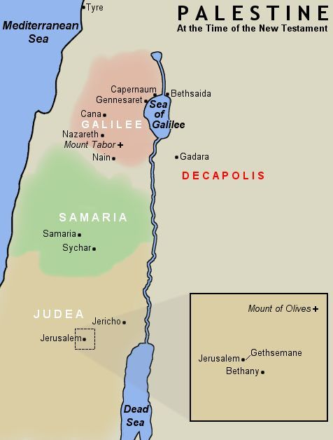 Study Resources :: Decapolis   Capernaum, Bible mapping, Map