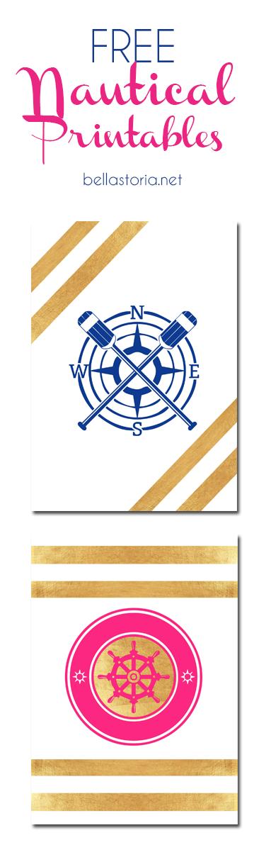 FREE Nautical Printables from BellaStoria.net
