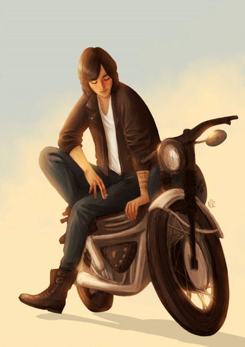Sirius And His Bike Harry Potter Anime Harry Potter Art Harry