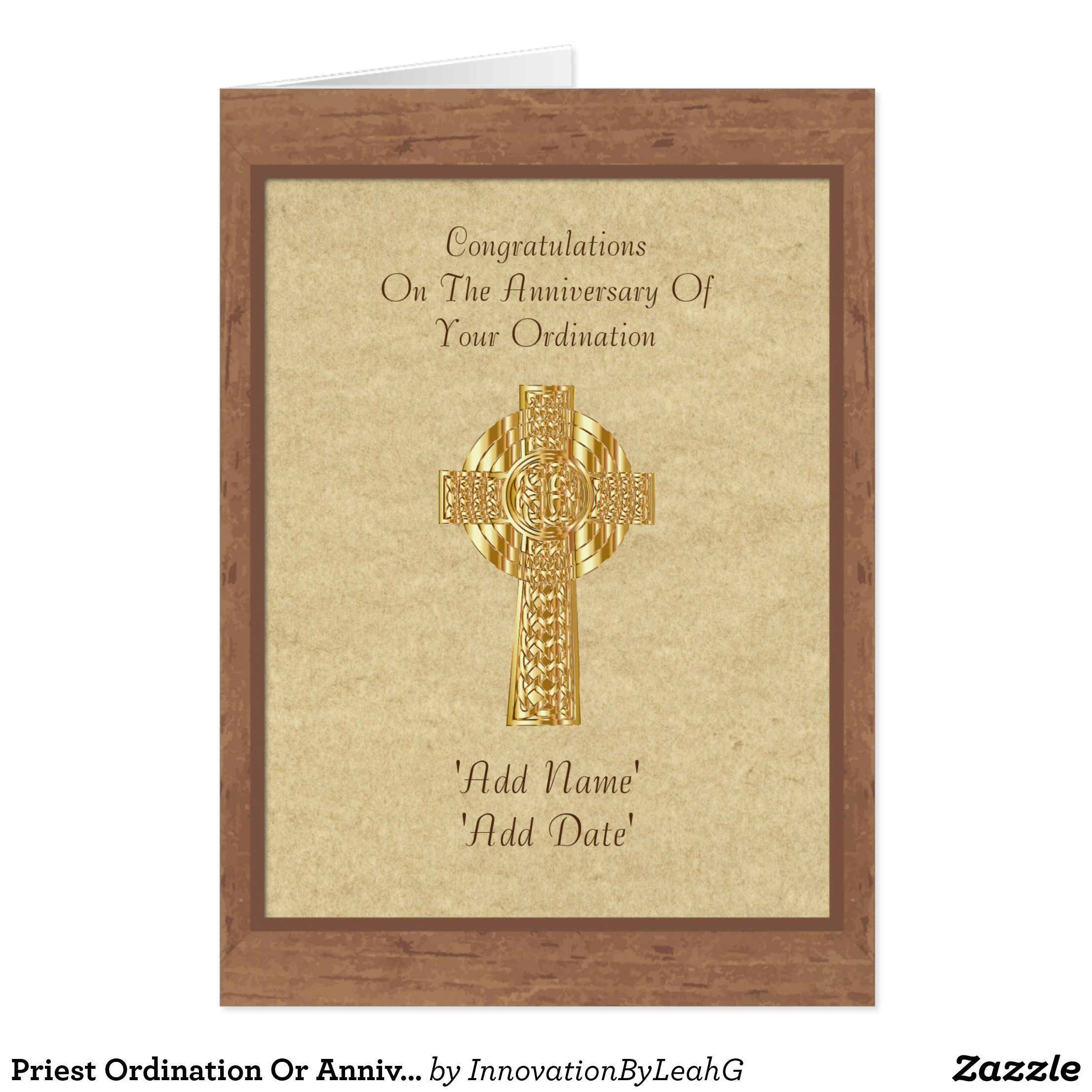 Priest Ordination Or Anniversary Card Personalized Abouna Jihad