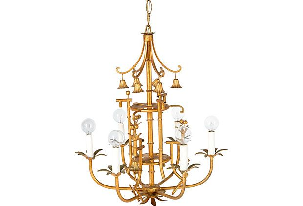 Gold pagoda chandelier on onekingslane chinoiserie diy gold pagoda chandelier on onekingslane aloadofball Choice Image