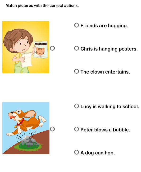 Action Verbs Worksheets, esl-efl Worksheets, kindergarten ...
