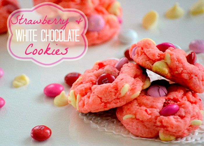 Strawberry and White Chocolate Cake Mix Cookies Recipe