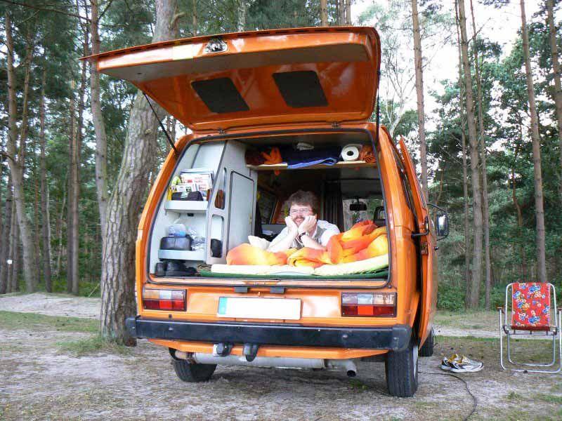 Bett bed matratze mattress vw t3 camper bus campervan for Bett schlafen