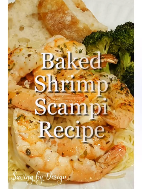 Make the perfect shrimp scampi without standing by the stove to cook it. This baked shrimp scampi recipe is awesome!!! #shrimpscampi