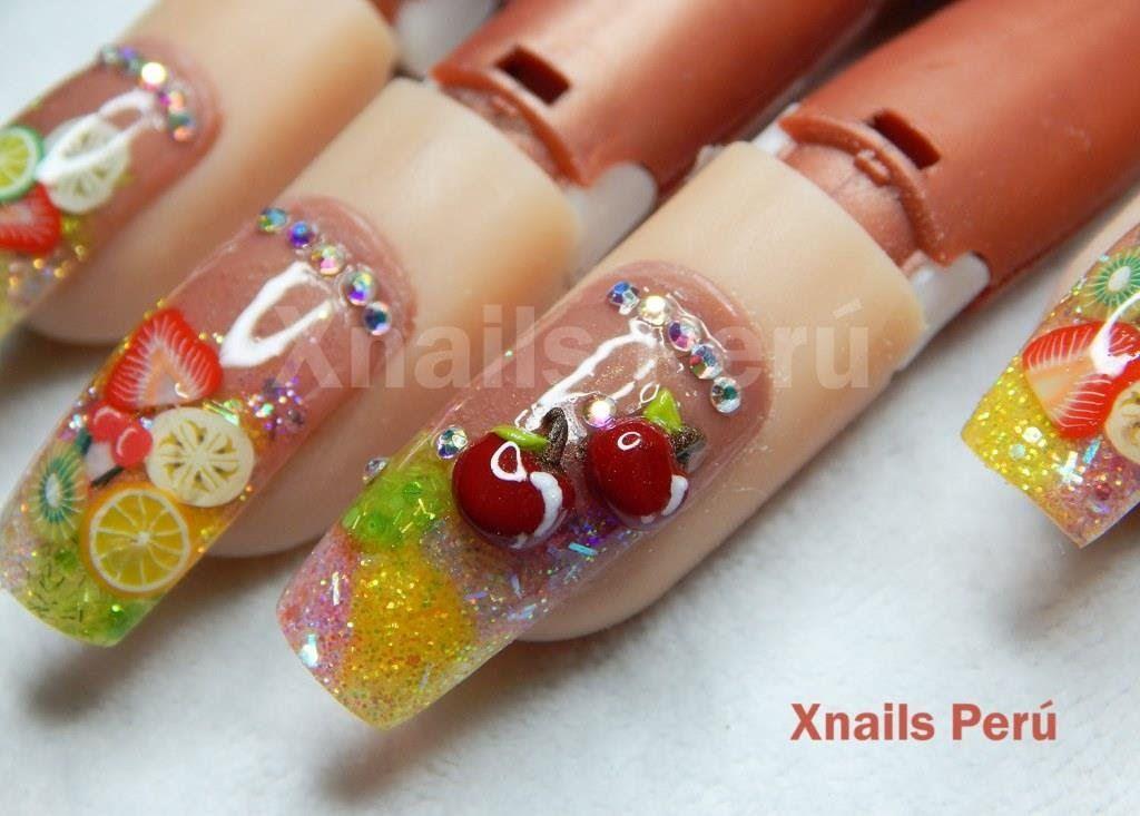 Fruit nails encapsulado con Dual y 3d/ Xnails Perú   Belleza \