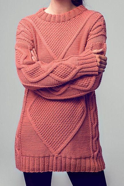 Lang und warm: Kostenlose Strickanleitung Long-Pullover - Initiative ...