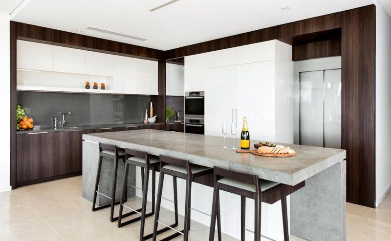 This kitchen island in a home in Perth, Western Australia, designed ...