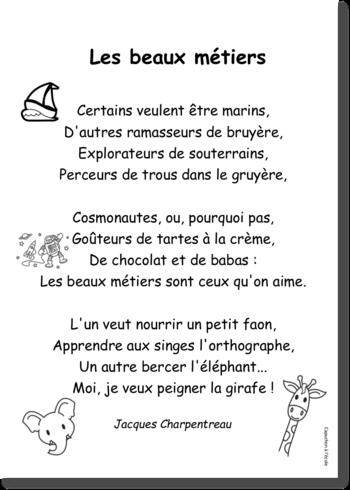 L école De Jacques Charpentreau : école, jacques, charpentreau, Capuchon, L'école, Poesie, Ecole,, Métier,, Ecole