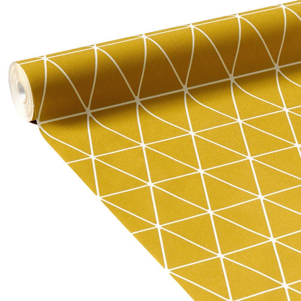 Papier Peint Jaune Moutarde papier peint intissé hedvig coloris jaune moutarde   papier