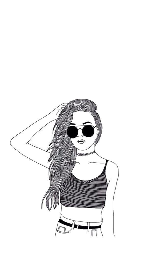 Pin De Alaya Em Draws Desenho De Menina Menina Tumblr Desenho