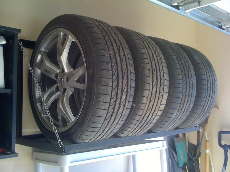 Homemade Tire Rack Nissan 370z Forum Tire Rack Tire Storage