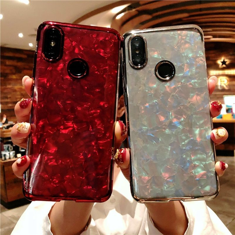 Glitter Bling Marble Phone Case For Xiaomi Redmi 6 Pro 6a S2 Note 4x 5a 4a 4 5 Plus Mi A2 A1 5x 6x Case Cover Silicone Tpu Cases Phone Cases