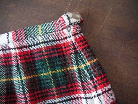 e57dd4e68 Vintage Gap 90's Tartan Plaid Shorts High Waist / virgin wool plaid flannel  gap 90s grunge shorts /