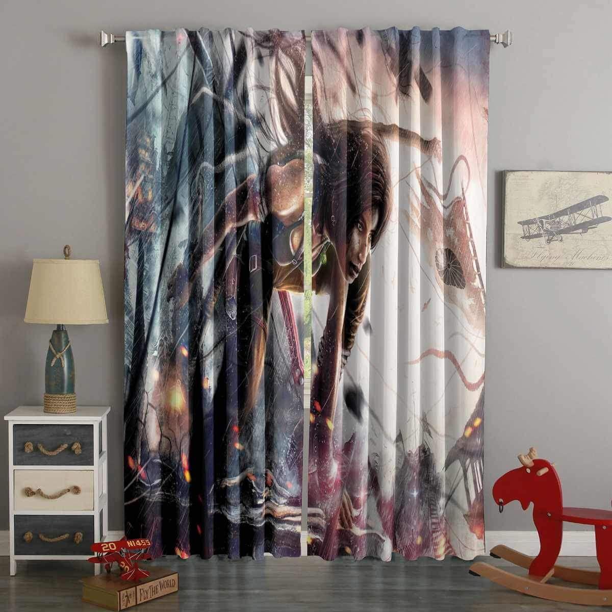 3d Printed Tomb Raider Custom Living Room Curtains Westbedding