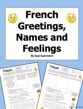 French greetings names and feelings chart and dialogues french french greetings names and feelings chart and dialogues m4hsunfo