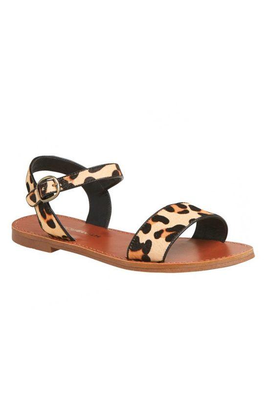 Windsor Smith - Bondi Sandal - Ocelot Hair Pony | Shoes | Peppermayo
