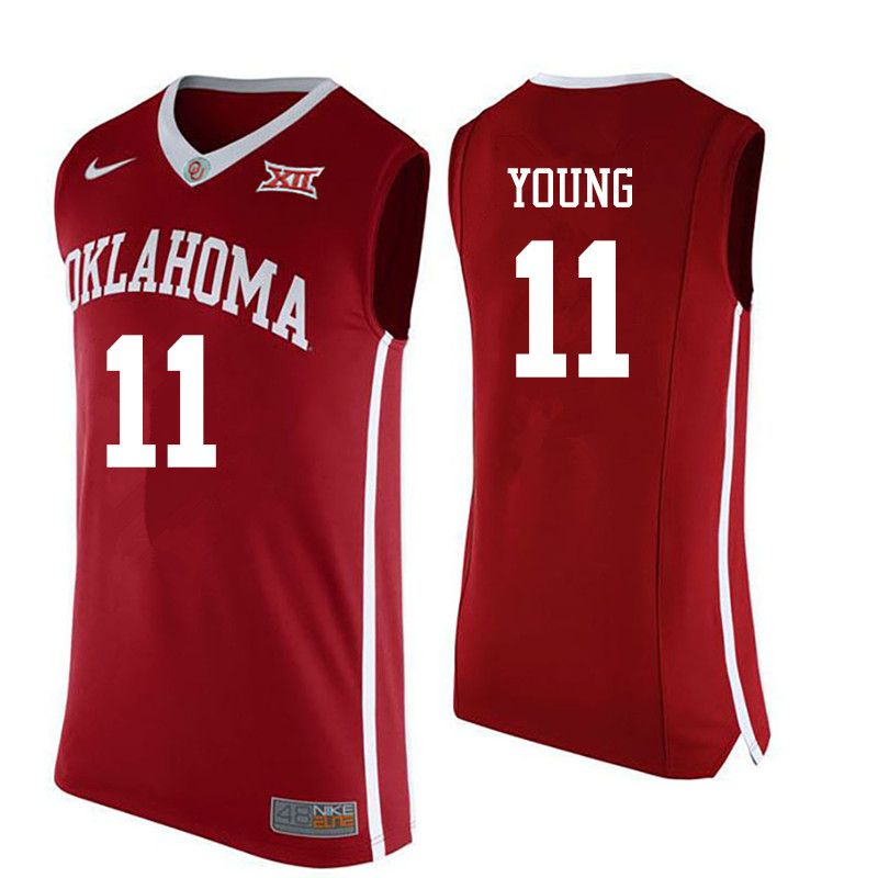 pretty nice 8c7f5 68aa1 Hot Oklahoma Sooners #11 Trae Young basketball Jerseys $29 ...