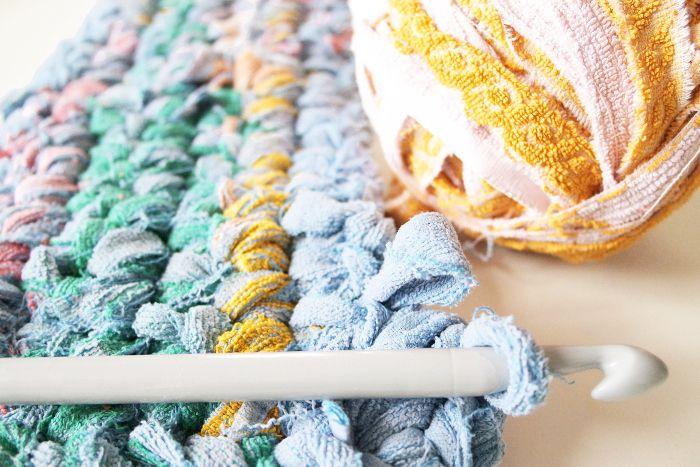 diy tapis de bain au crochet rock