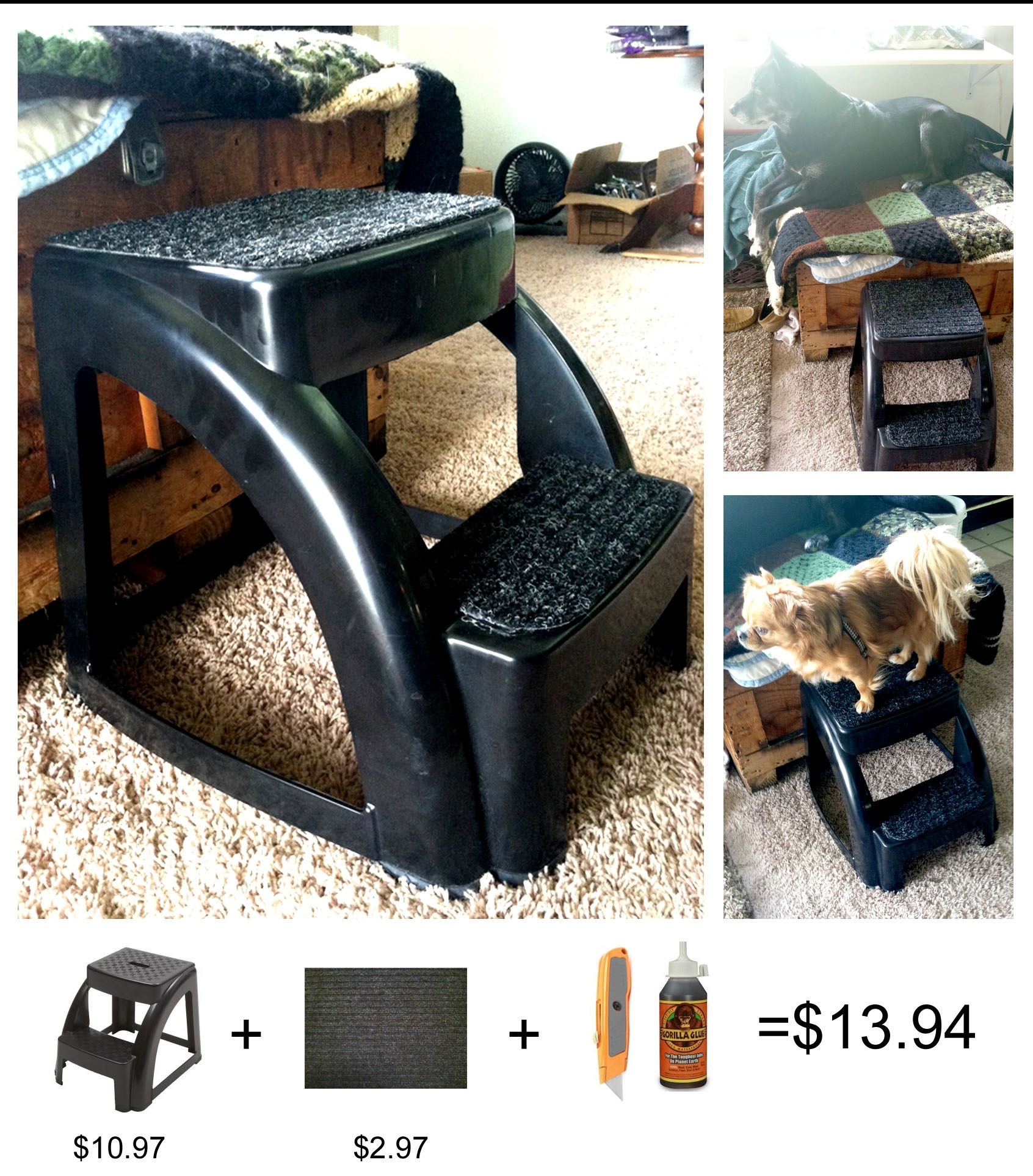 Diy Dog Pet Stairs Stool With Support Up To 300lbs This