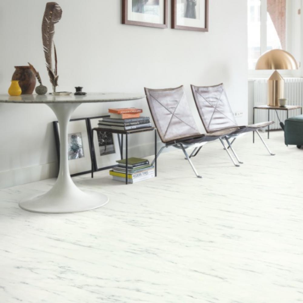 Quickstep Livyn Ambient Marble Carrera White Vinyl Flooring Amcl40136 Vinyl Flooring White Vinyl Flooring Luxury Vinyl Tile Flooring