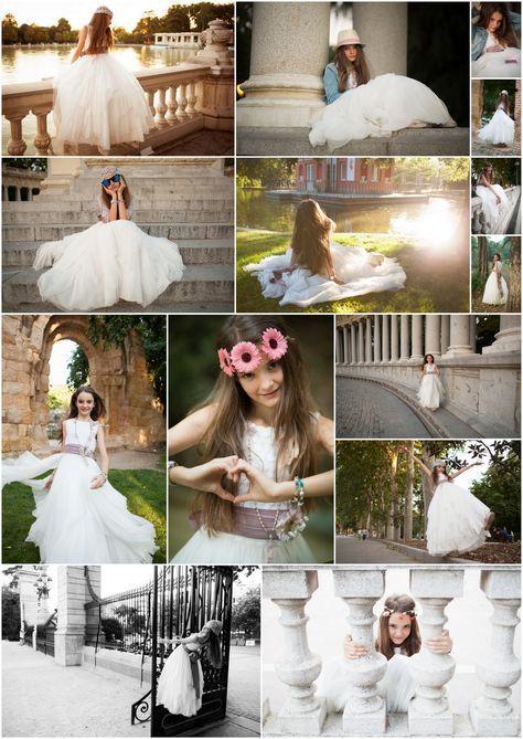 Sesion de fotos de ni a con el traje de primera comunion for Fotos comunion exterior nina