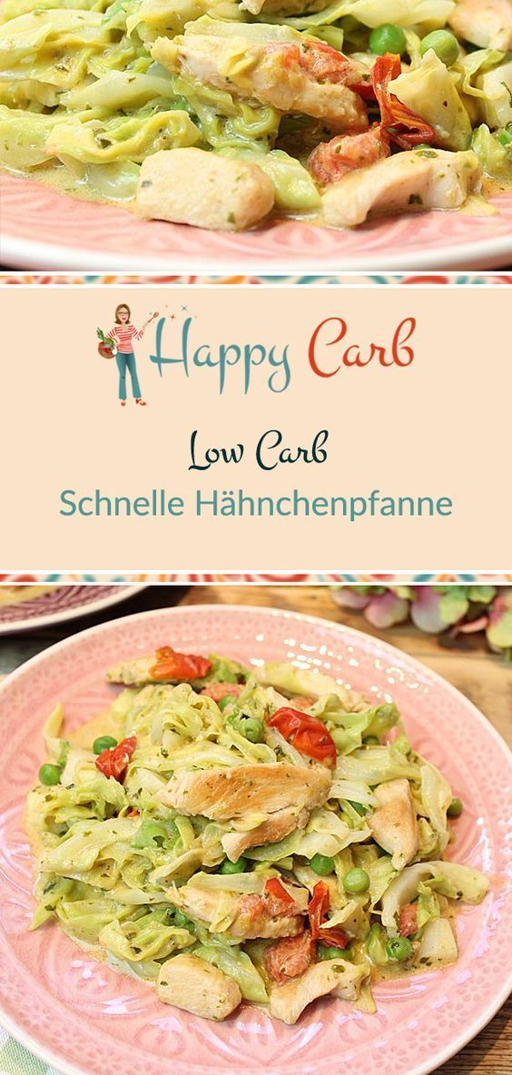 Fast low-carb chicken pan - happy carb recipes - #chicken #happy #recipes - #OnTheGoFood