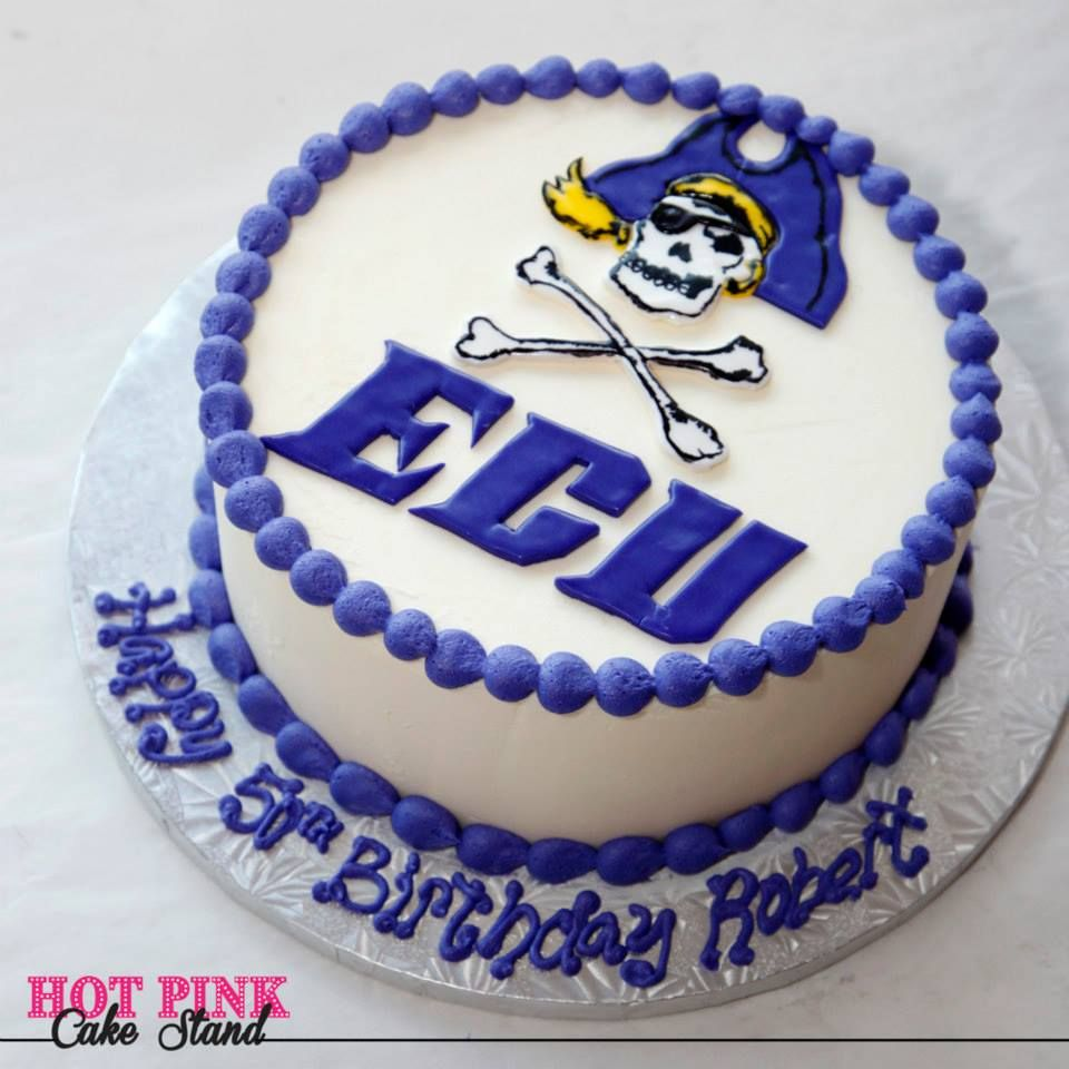 Remarkable Ecu Birthday Cake With Eastern Carolina University Pirate On Top Birthday Cards Printable Opercafe Filternl