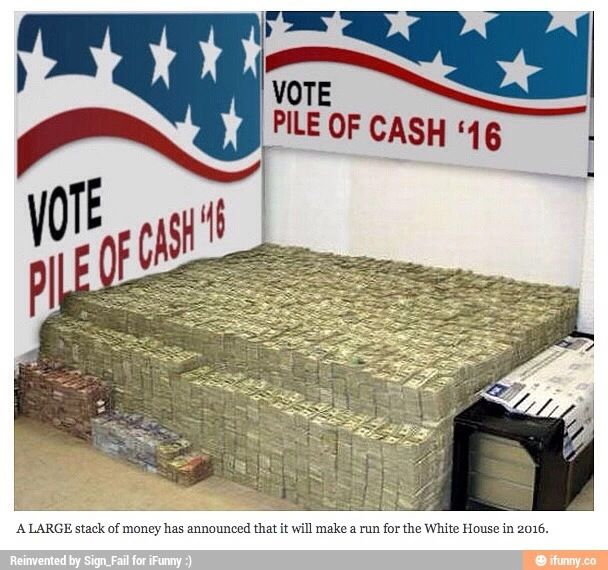 Please let me vote for this pile of cash.