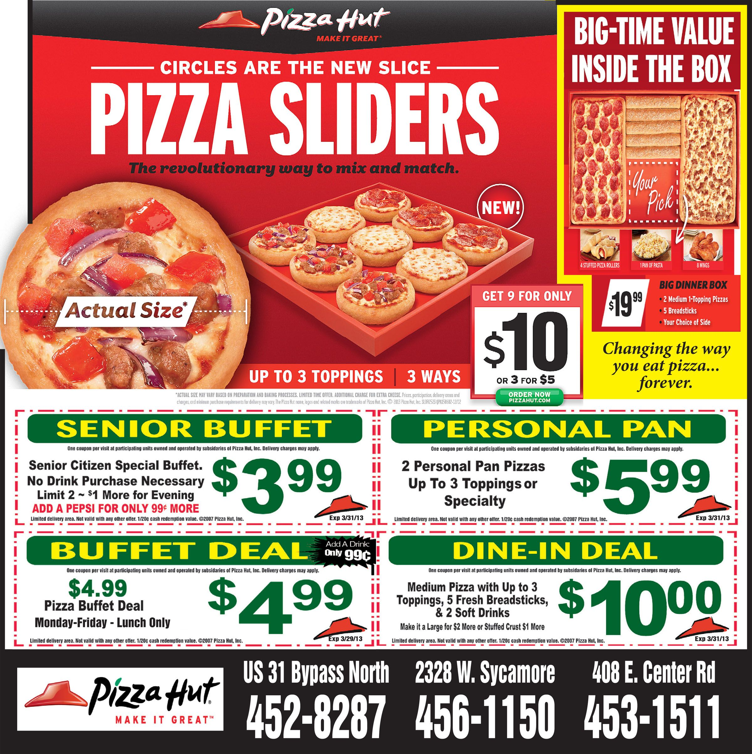 Get pizza hut coupons