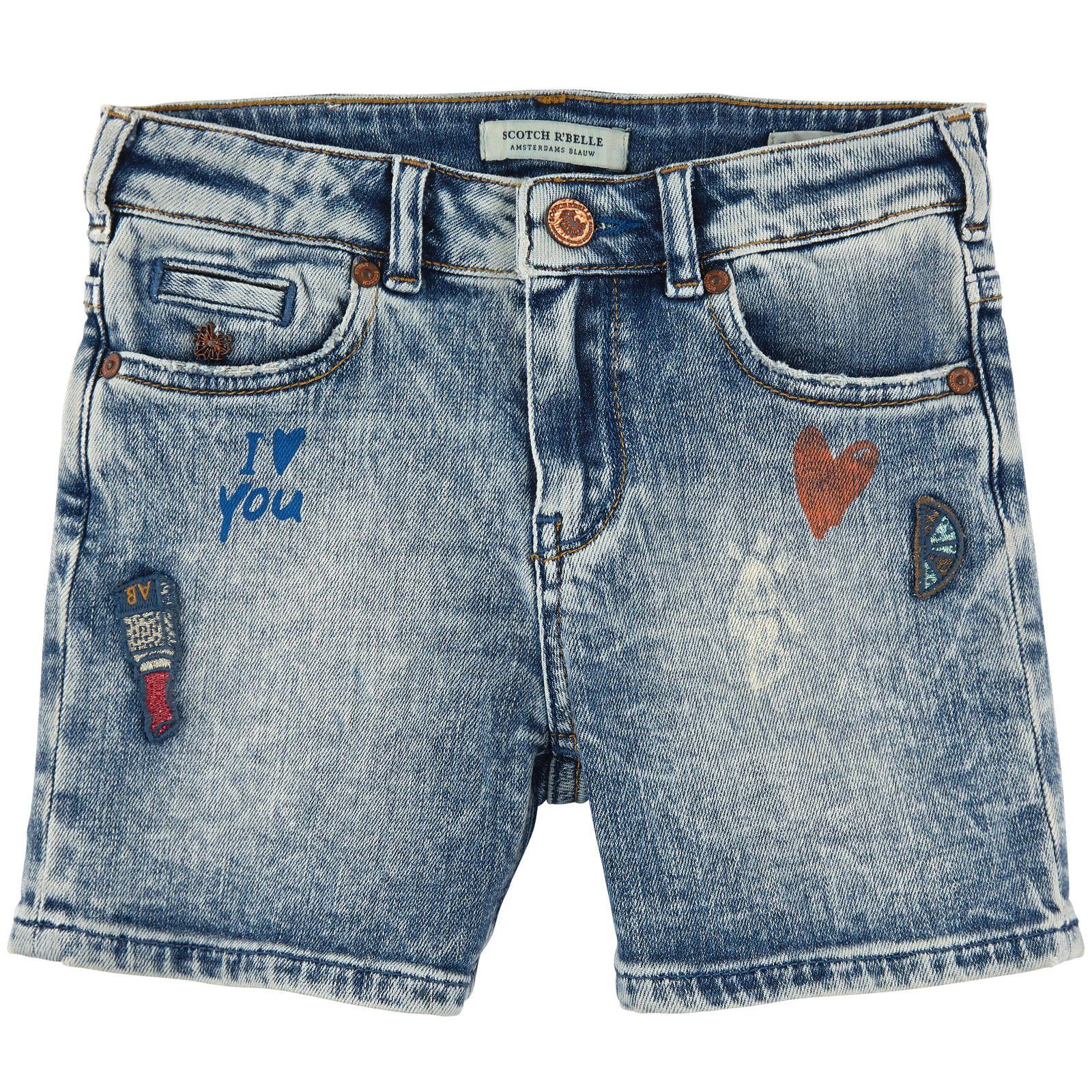 Scotch & Soda Stretch denim shorts - Stone-washed blue - 101917