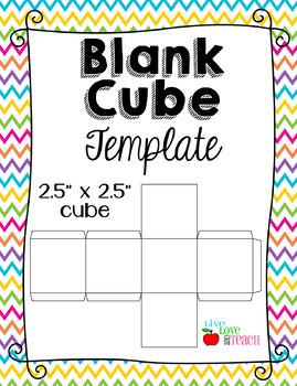 blank cube template editable live love and teach pinterest