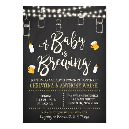 a baby is brewing baby shower chalk bbq invitation couple shower
